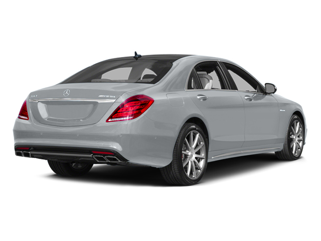 Diamond Silver Metallic 2014 Mercedes-Benz S-Class Pictures S-Class Sedan 4D S63 AMG AWD V8 Turbo photos rear view
