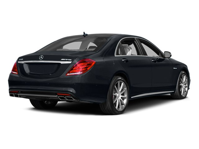 Anthracite Blue Metallic 2014 Mercedes-Benz S-Class Pictures S-Class Sedan 4D S63 AMG AWD V8 Turbo photos rear view
