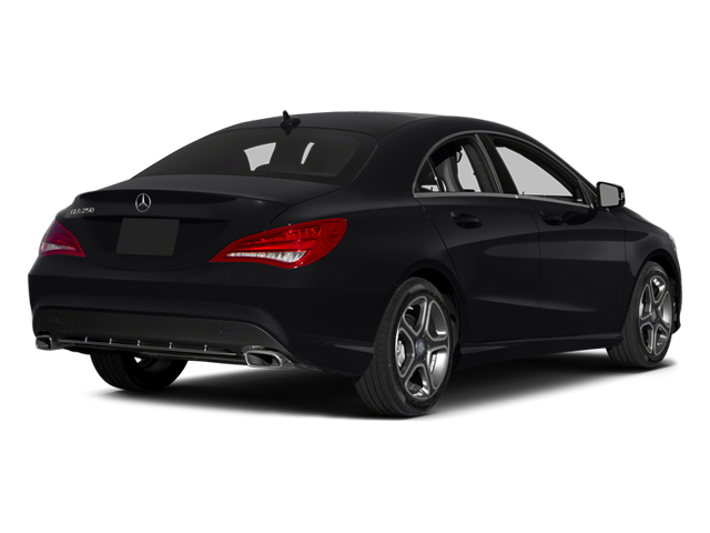 Cosmos Black Metallic 2014 Mercedes-Benz CLA-Class Pictures CLA-Class Sedan 4D CLA250 AWD I4 Turbo photos rear view