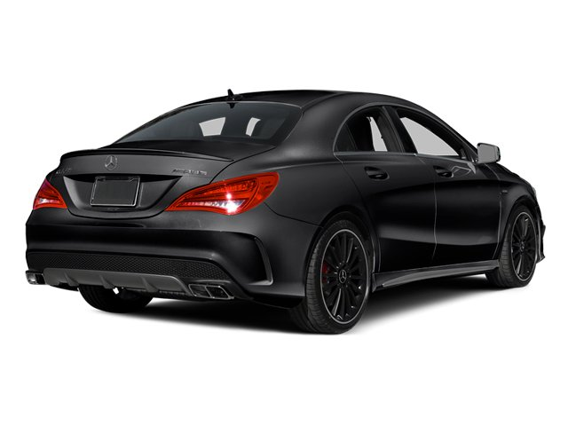 Cosmos Black Metallic 2014 Mercedes-Benz CLA-Class Pictures CLA-Class Sedan 4D CLA45 AMG AWD I4 Turbo photos rear view