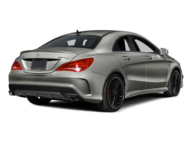 Polar Silver Metallic 2014 Mercedes-Benz CLA-Class Pictures CLA-Class Sedan 4D CLA45 AMG AWD I4 Turbo photos rear view