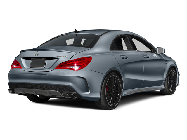 Universe Blue Metallic 2014 Mercedes-Benz CLA-Class Pictures CLA-Class Sedan 4D CLA45 AMG AWD I4 Turbo photos rear view