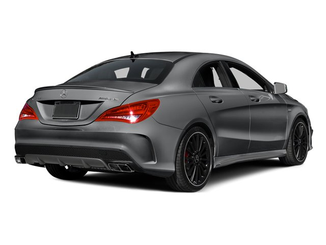 Magno Polar Silver 2014 Mercedes-Benz CLA-Class Pictures CLA-Class Sedan 4D CLA45 AMG AWD I4 Turbo photos rear view