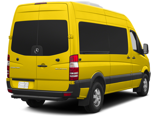 Broom Yellow 2014 Mercedes-Benz Sprinter Passenger Vans Pictures Sprinter Passenger Vans Passenger Van photos rear view