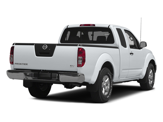 Glacier White 2014 Nissan Frontier Pictures Frontier King Cab SV 2WD photos rear view