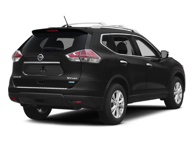 Super Black 2014 Nissan Rogue Pictures Rogue Utility 4D SL AWD I4 photos rear view