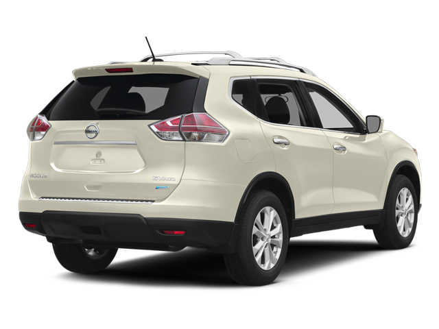 Moonlight White 2014 Nissan Rogue Pictures Rogue Utility 4D SL AWD I4 photos rear view