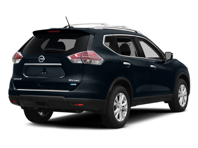 Graphite Blue 2014 Nissan Rogue Pictures Rogue Utility 4D SL AWD I4 photos rear view