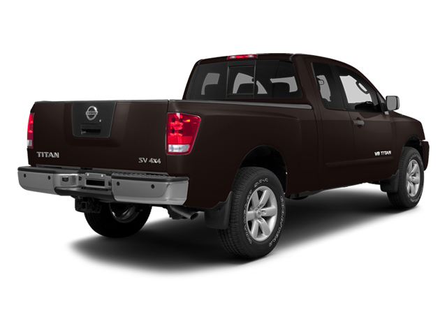Espresso Black Metallic 2014 Nissan Titan Pictures Titan King Cab S 4WD photos rear view