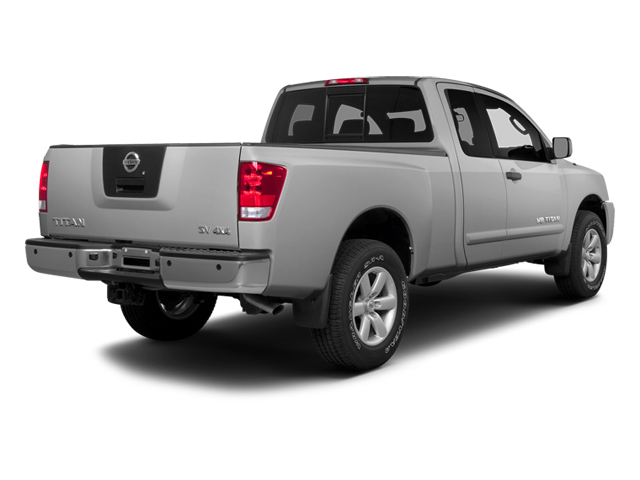 Brilliant Silver Metallic 2014 Nissan Titan Pictures Titan King Cab S 4WD photos rear view