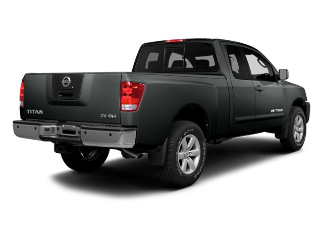 Gun Metallic 2014 Nissan Titan Pictures Titan King Cab S 4WD photos rear view
