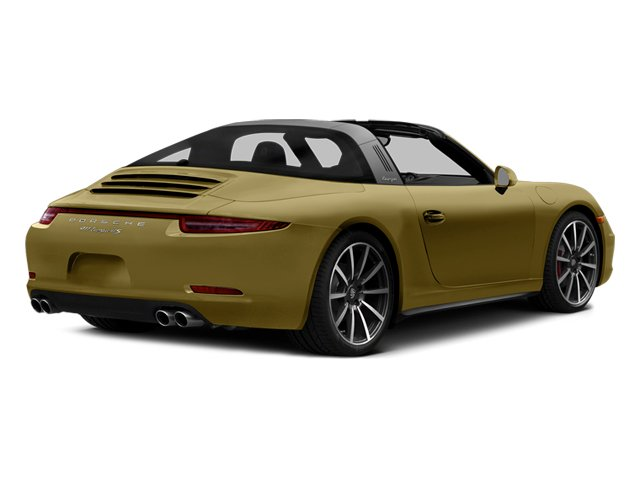 Lime Gold Metallic 2014 Porsche 911 Pictures 911 Coupe 2D 4S Targa AWD photos rear view