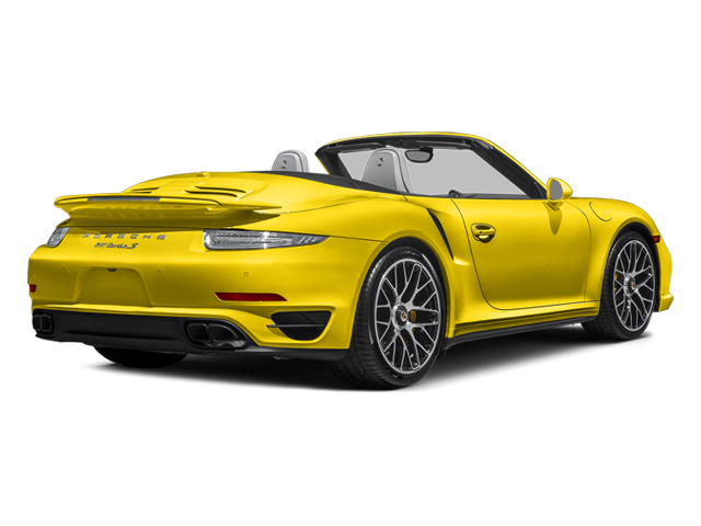 Racing Yellow 2014 Porsche 911 Pictures 911 Cabriolet 2D S AWD H6 Turbo photos rear view