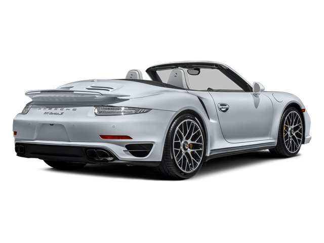 Rhodium Silver Metallic 2014 Porsche 911 Pictures 911 Cabriolet 2D AWD H6 Turbo photos rear view