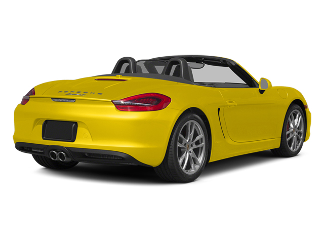 Racing Yellow 2014 Porsche Boxster Pictures Boxster Roadster 2D S H6 photos rear view