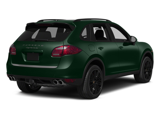 Jet Green Metallic 2014 Porsche Cayenne Pictures Cayenne Utility 4D AWD V8 Turbo photos rear view