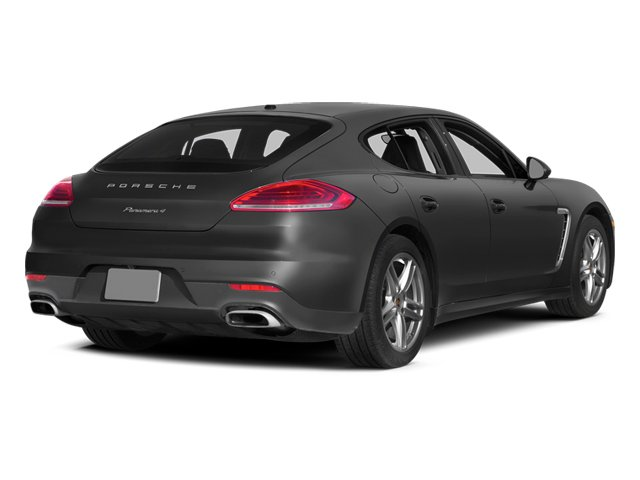 Carbon Gray Metallic 2014 Porsche Panamera Pictures Panamera Hatchback 4D S V6 Turbo photos rear view
