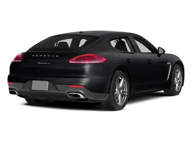 Black 2014 Porsche Panamera Pictures Panamera Hatchback 4D S AWD V8 Turbo photos rear view