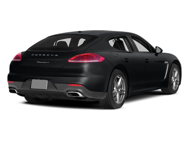 Basalt Black Metallic 2014 Porsche Panamera Pictures Panamera Hatchback 4D S AWD V8 Turbo photos rear view