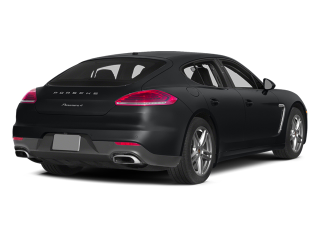 Basalt Black Metallic 2014 Porsche Panamera Pictures Panamera Hatchback 4D 4S V6 Turbo photos rear view