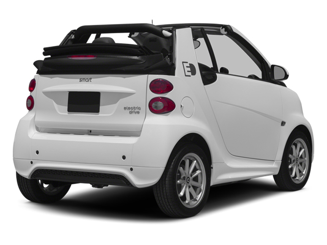 Crystal White 2014 smart fortwo electric drive Pictures fortwo electric drive Convertible 2D Electric photos rear view