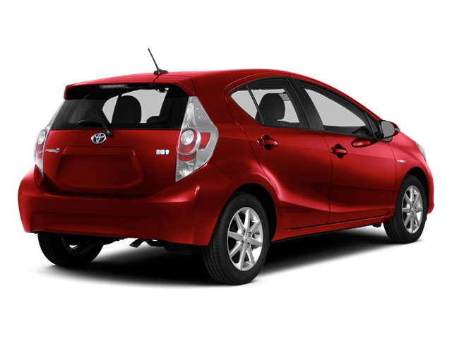 Absolutely Red 2014 Toyota Prius c Pictures Prius c Liftack 5D c I4 Hybrid photos rear view