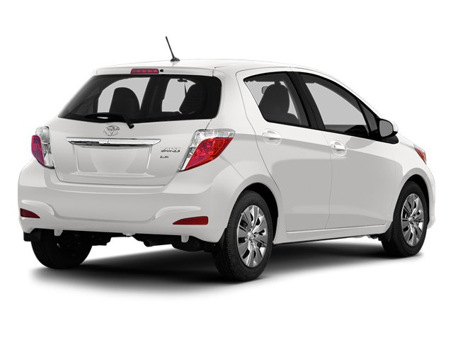 Super White 2014 Toyota Yaris Pictures Yaris Hatchback 5D SE I4 photos rear view