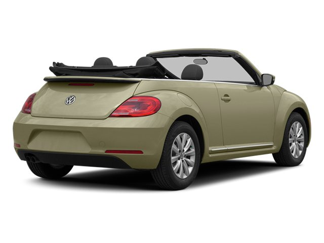 Moonrock Silver Metallic/Black Roof 2014 Volkswagen Beetle Convertible Pictures Beetle Convertible Convertible 2D TDI I4 photos rear view