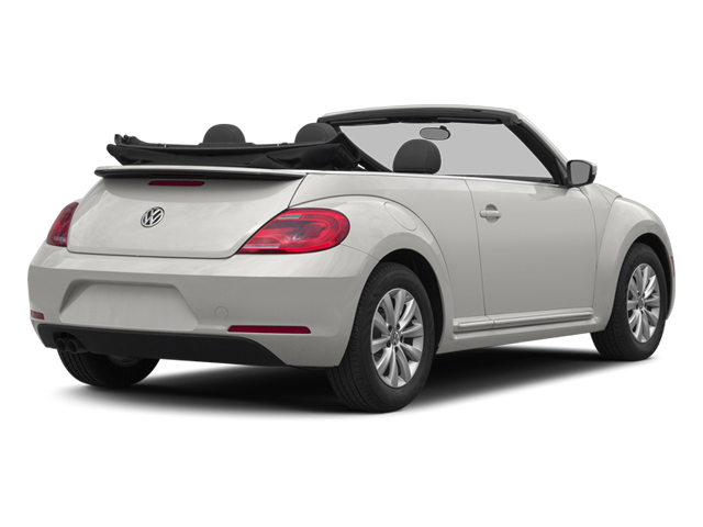 Pure White 2014 Volkswagen Beetle Convertible Pictures Beetle Convertible Convertible 2D TDI I4 photos rear view