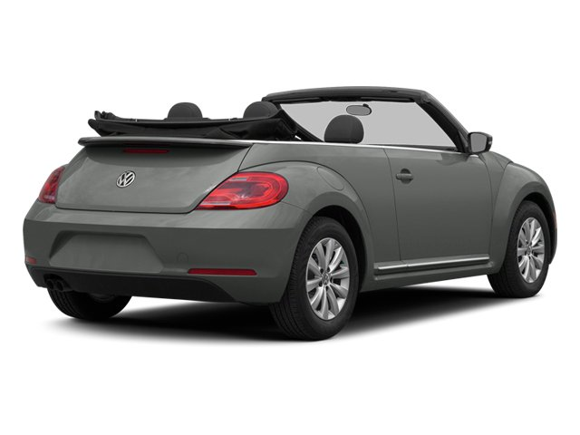 Platinum Gray Metallic/Black Roof 2014 Volkswagen Beetle Convertible Pictures Beetle Convertible Convertible 2D TDI I4 photos rear view