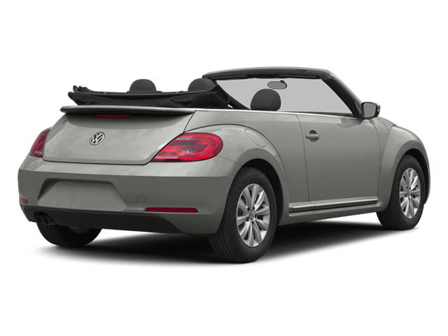 Reflex Silver Metallic/Black Roof 2014 Volkswagen Beetle Convertible Pictures Beetle Convertible Convertible 2D TDI I4 photos rear view