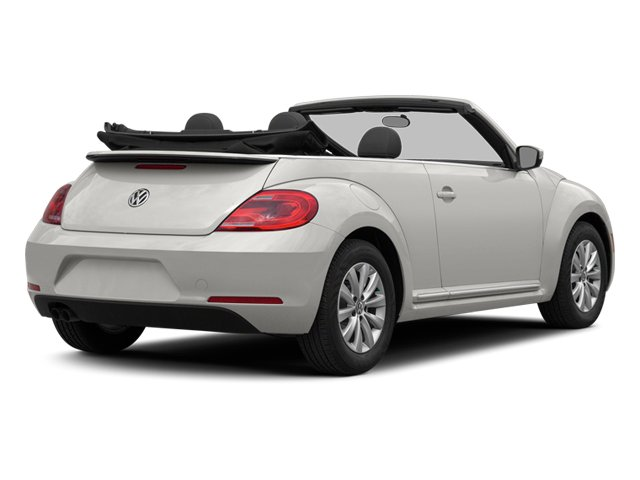 Candy White/Black Roof 2014 Volkswagen Beetle Convertible Pictures Beetle Convertible Convertible 2D TDI I4 photos rear view
