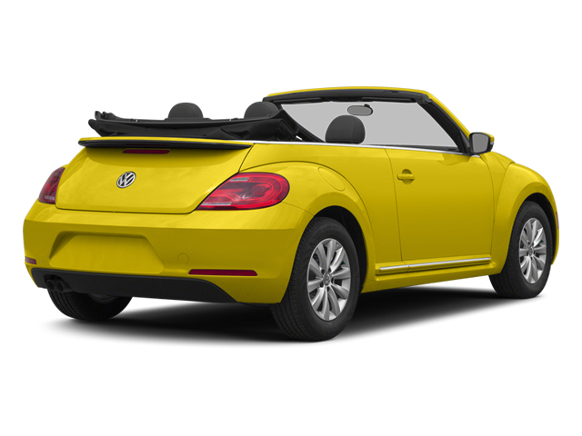 Yellow Rush/Black Roof 2014 Volkswagen Beetle Convertible Pictures Beetle Convertible Convertible 2D TDI I4 photos rear view