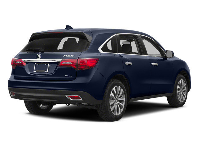 Fathom Blue Pearl 2015 Acura MDX Pictures MDX Utility 4D Technology DVD AWD V6 photos rear view
