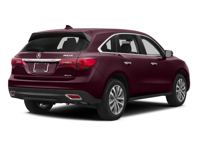 Dark Cherry Pearl 2015 Acura MDX Pictures MDX Utility 4D Technology 2WD V6 photos rear view