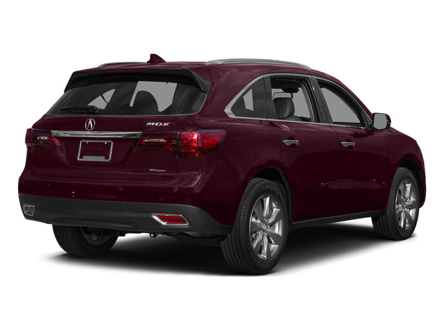 Dark Cherry Pearl 2015 Acura MDX Pictures MDX Utility 4D Advance DVD AWD V6 photos rear view