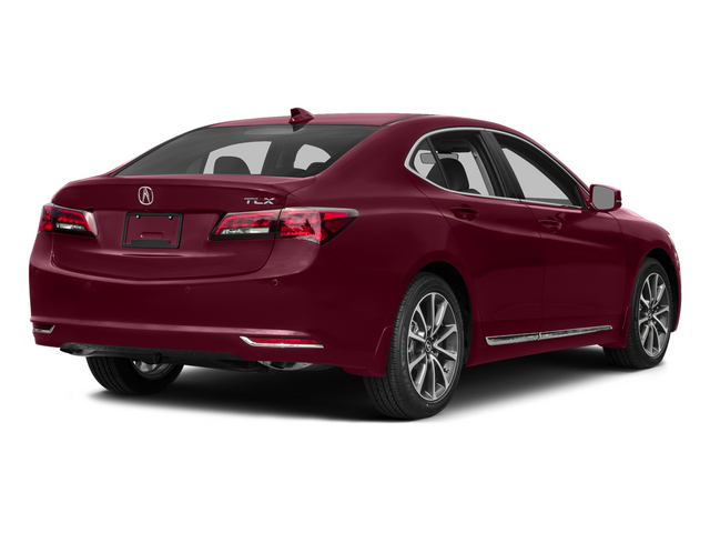 Basque Red Pearl II 2015 Acura TLX Pictures TLX Sedan 4D Advance V6 photos rear view