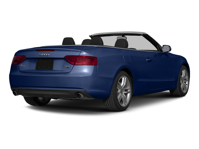Scuba Blue Metallic/Black Roof 2015 Audi A5 Pictures A5 Convertible 2D Premium Plus AWD photos rear view