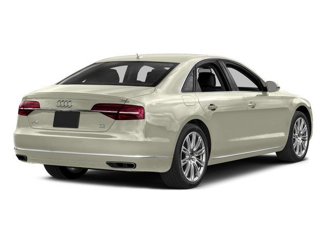 Glacier White Metallic 2015 Audi A8 Pictures A8 Sedan 4D 3.0T AWD V6 Turbo photos rear view