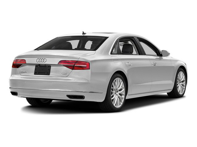 Glacier White Metallic 2015 Audi A8 L Pictures A8 L Sedan 4D TDI L AWD V6 photos rear view