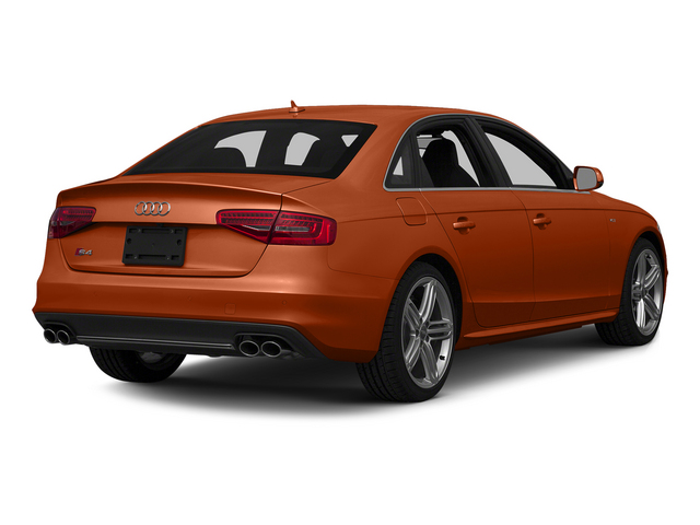 Volcano Red Metallic 2015 Audi S4 Pictures S4 Sedan 4D S4 Prestige AWD photos rear view