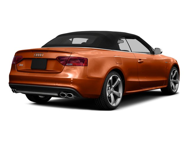 Volcano Red Metallic/Black Roof 2015 Audi S5 Pictures S5 Convertible 2D S5 Prestige AWD photos rear view
