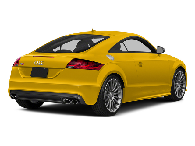Imola Yellow 2015 Audi TTS Pictures TTS Coupe 2D AWD photos rear view