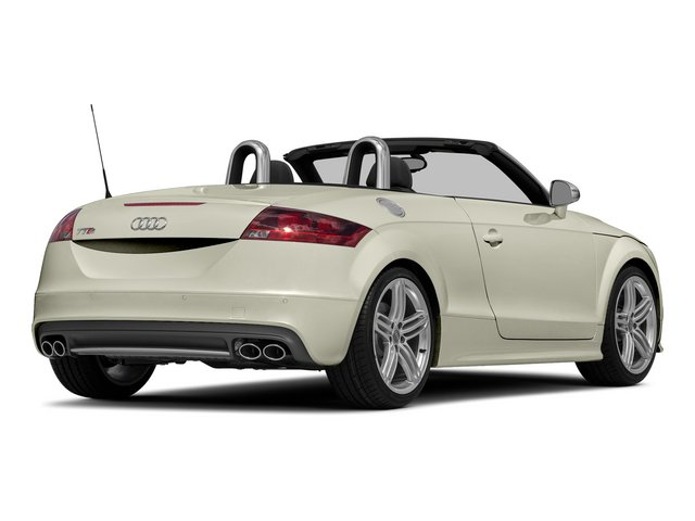 Glacier White Metallic/Black Roof 2015 Audi TTS Pictures TTS Roadster 2D AWD photos rear view