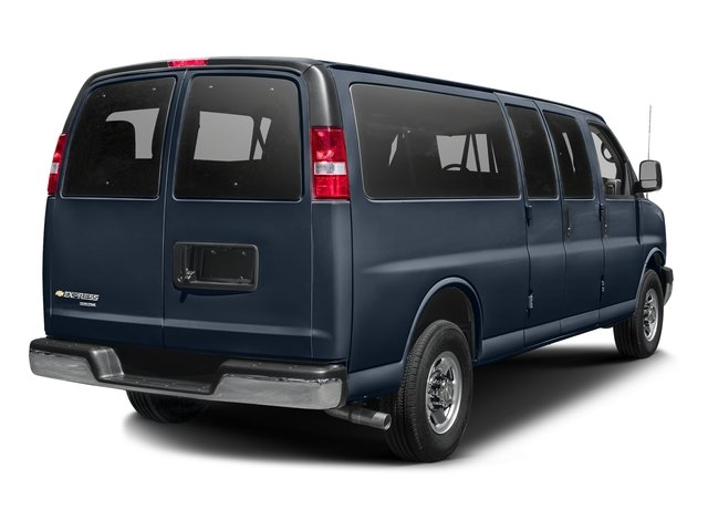 Dark Blue Metallic 2015 Chevrolet Express Passenger Pictures Express Passenger Express Van LS 135 photos rear view