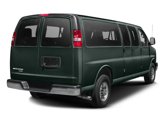 Rainforest Green Metallic 2015 Chevrolet Express Passenger Pictures Express Passenger Express Van LS 135 photos rear view