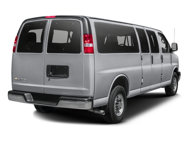 Silver Ice Metallic 2015 Chevrolet Express Passenger Pictures Express Passenger Extended Express Van LS 155 photos rear view