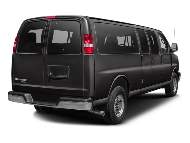 Black 2015 Chevrolet Express Passenger Pictures Express Passenger Express Van LS 135 photos rear view