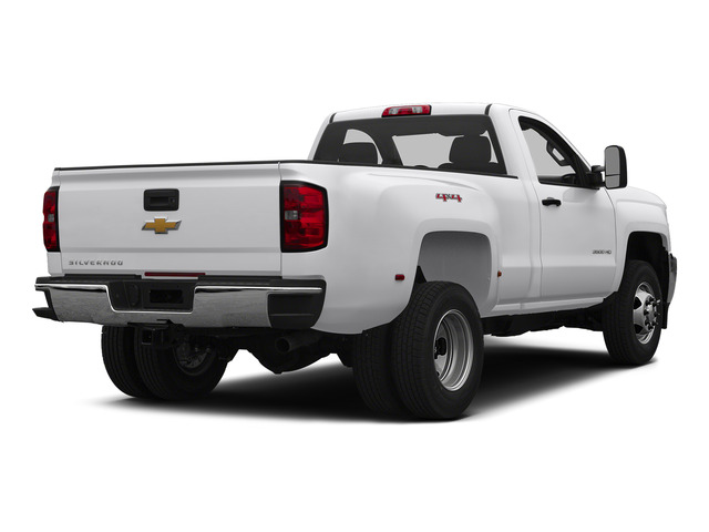 Summit White 2015 Chevrolet Silverado 3500HD Pictures Silverado 3500HD Regular Cab LT 4WD photos rear view