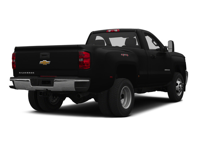 Black 2015 Chevrolet Silverado 3500HD Pictures Silverado 3500HD Regular Cab LT 4WD photos rear view
